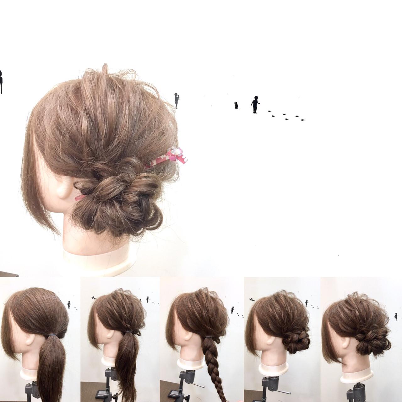 ヘアアレンジ ショート 簡単ヘアアレンジ フェミニン ヘアスタイルや髪型の写真・画像 | 中野 裕介/jap international / JAP international Ssalon