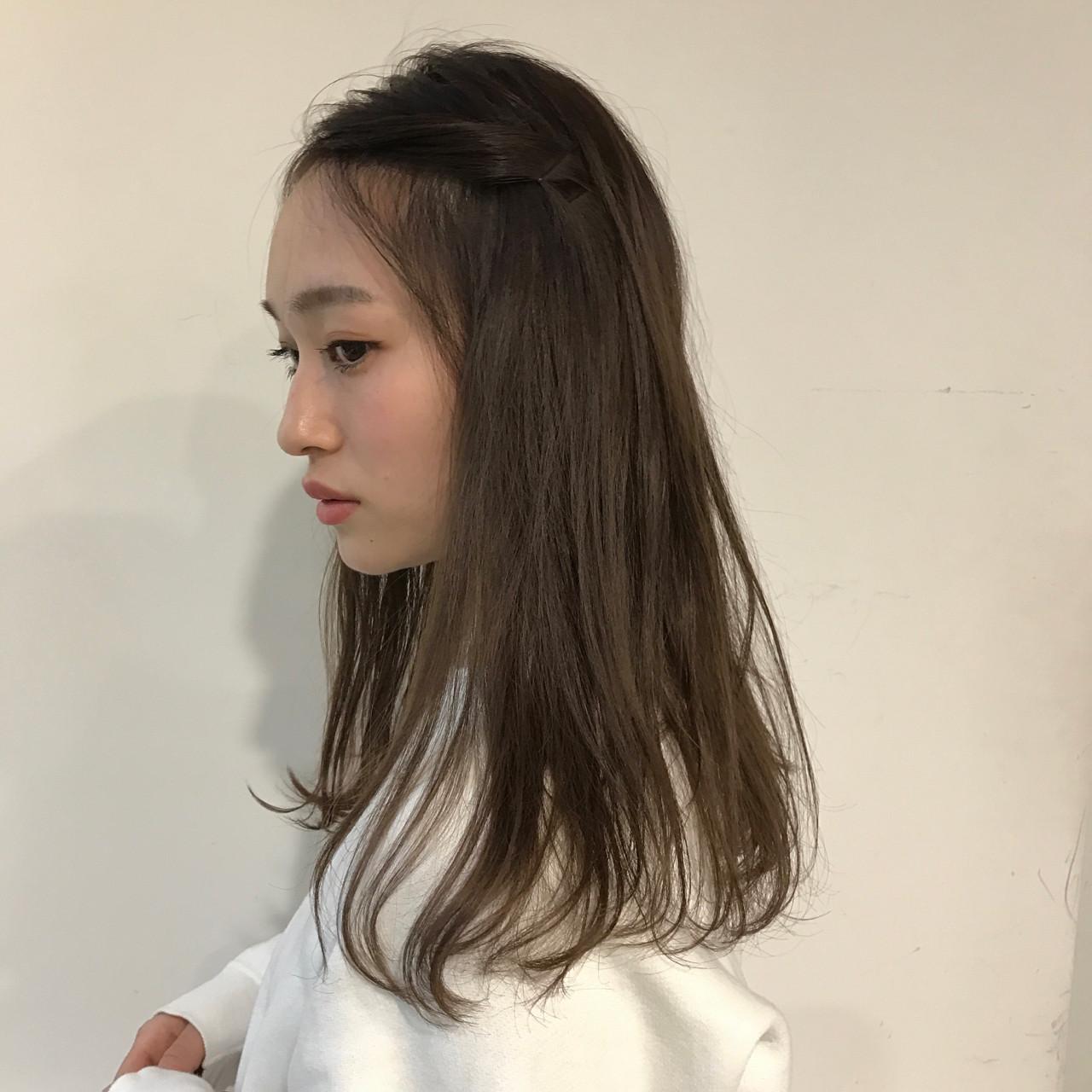 ヘアアレンジ ショート ミディアム ミルクティー ヘアスタイルや髪型の写真・画像 | 佐々木拓巳 / GARDEN harajuku