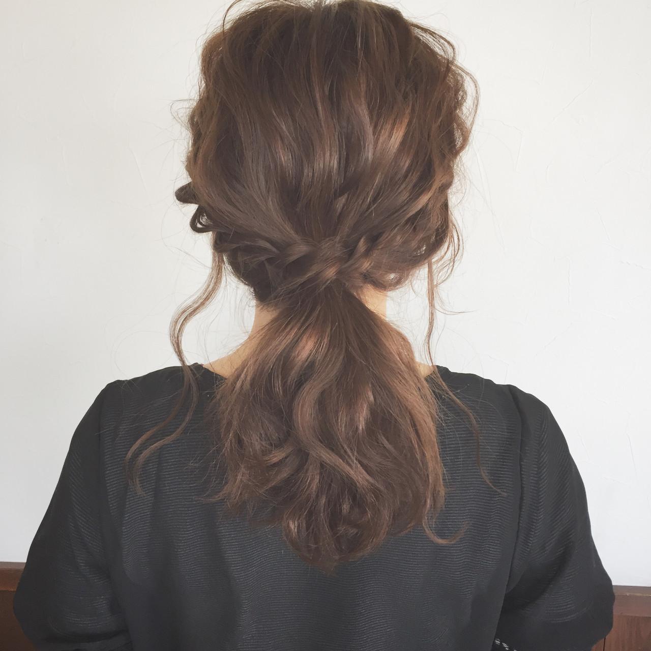 大人かわいい ヘアアレンジ デート ミディアム ヘアスタイルや髪型の写真・画像 | 大西未紗 / HAIR LEAP