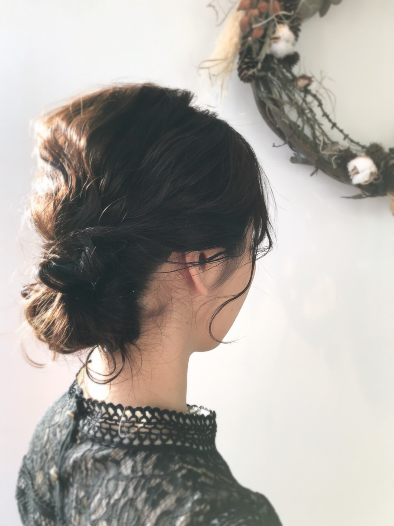 ミディアム アンニュイほつれヘア ヘアアレンジ 成人式 ヘアスタイルや髪型の写真・画像