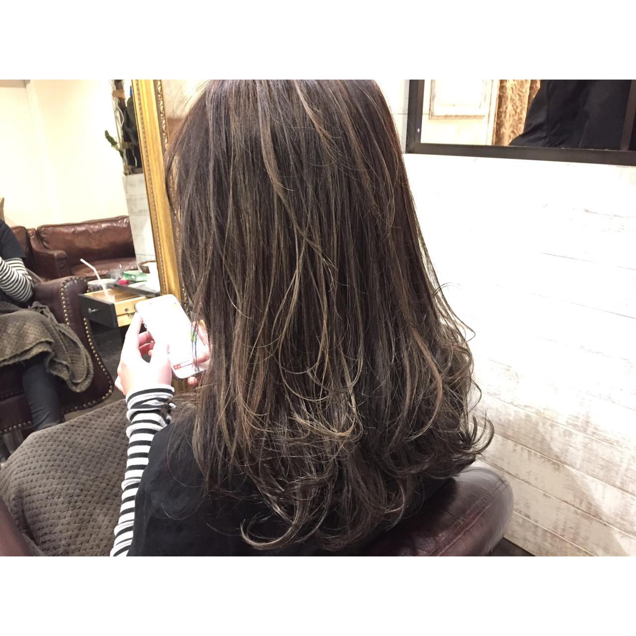 ハイライト 外国人風 セミロング 透明感 ヘアスタイルや髪型の写真・画像 | miya/@1031miya / フリーランス(XENA)