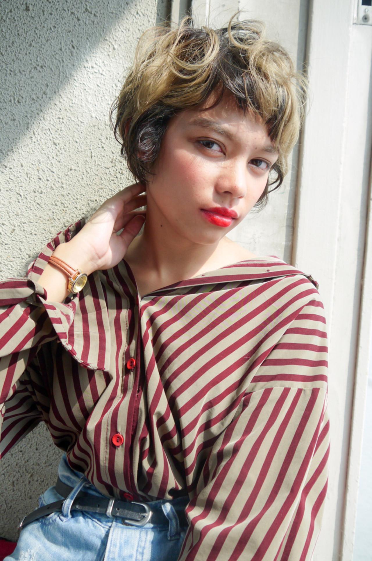 透明感 モテ髪 かわいい ショート ヘアスタイルや髪型の写真・画像   izumi.miyazaki / morio from london原宿本店
