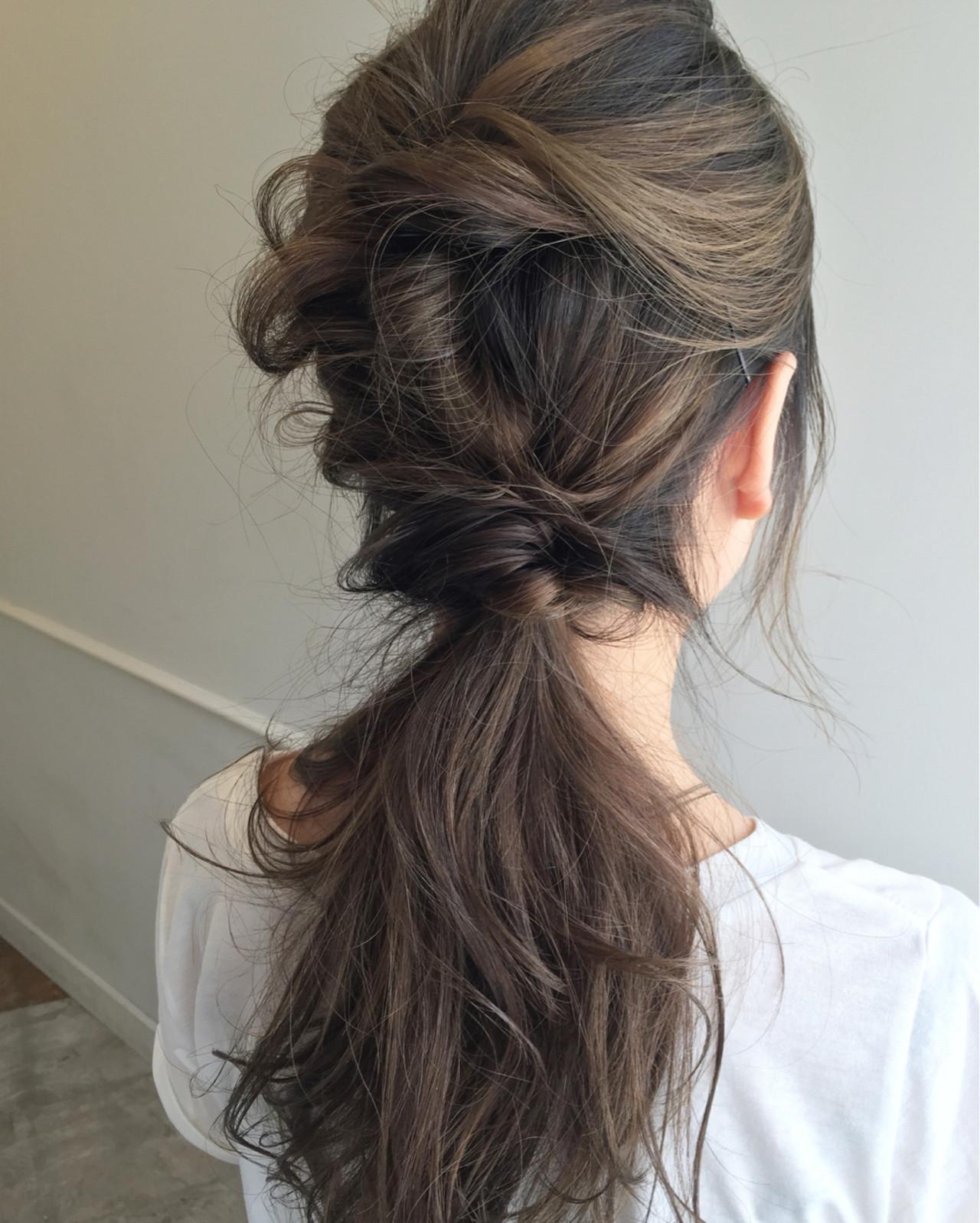 くるりんぱ フェミニン 大人かわいい セミロング ヘアスタイルや髪型の写真・画像