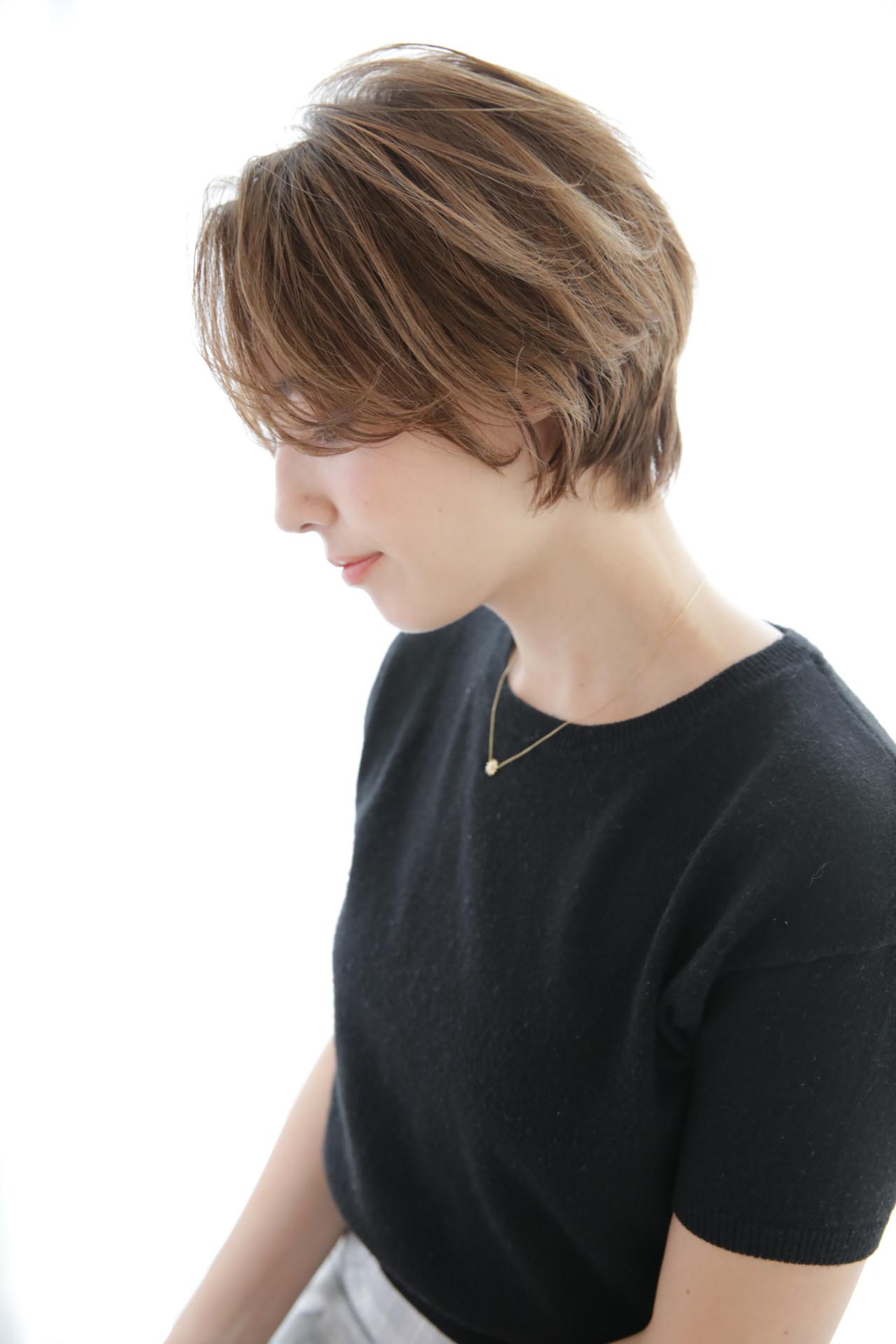 ナチュラル ハイライト ショート オフィス ヘアスタイルや髪型の写真・画像 | 近藤雄太/ショート / Neolive CiroL.