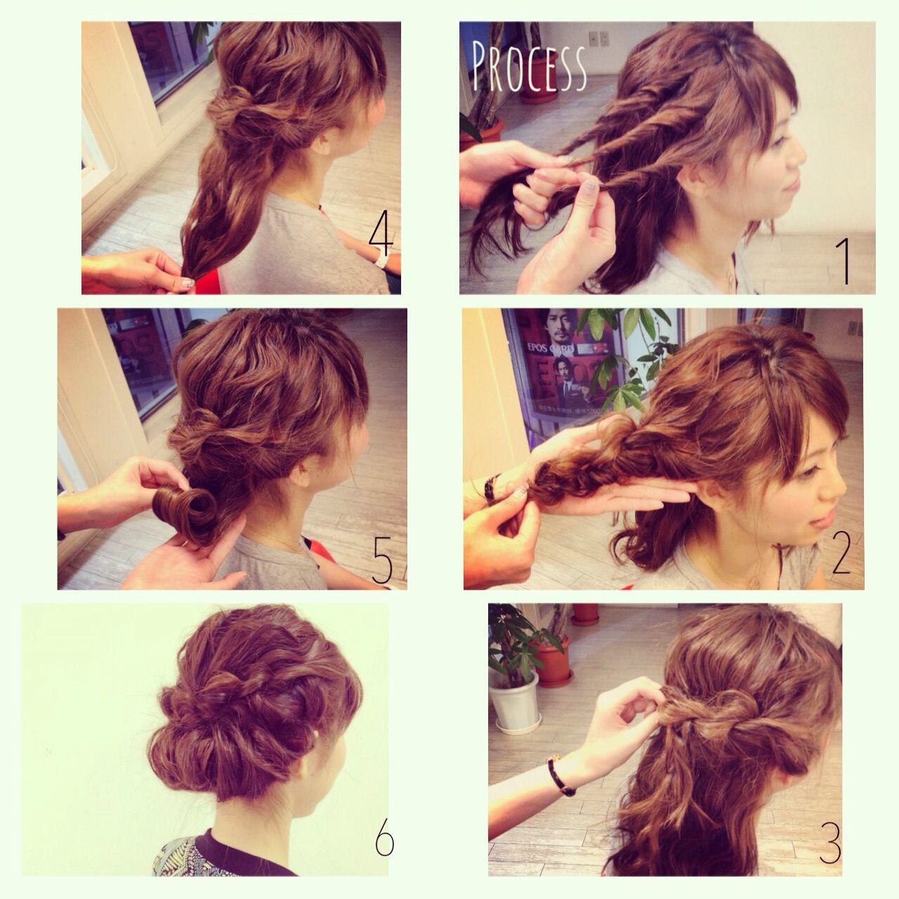 簡単ヘアアレンジ 簡単 ショート アップスタイル ヘアスタイルや髪型の写真・画像 | Kaneko Mayumi / BOTTOMS