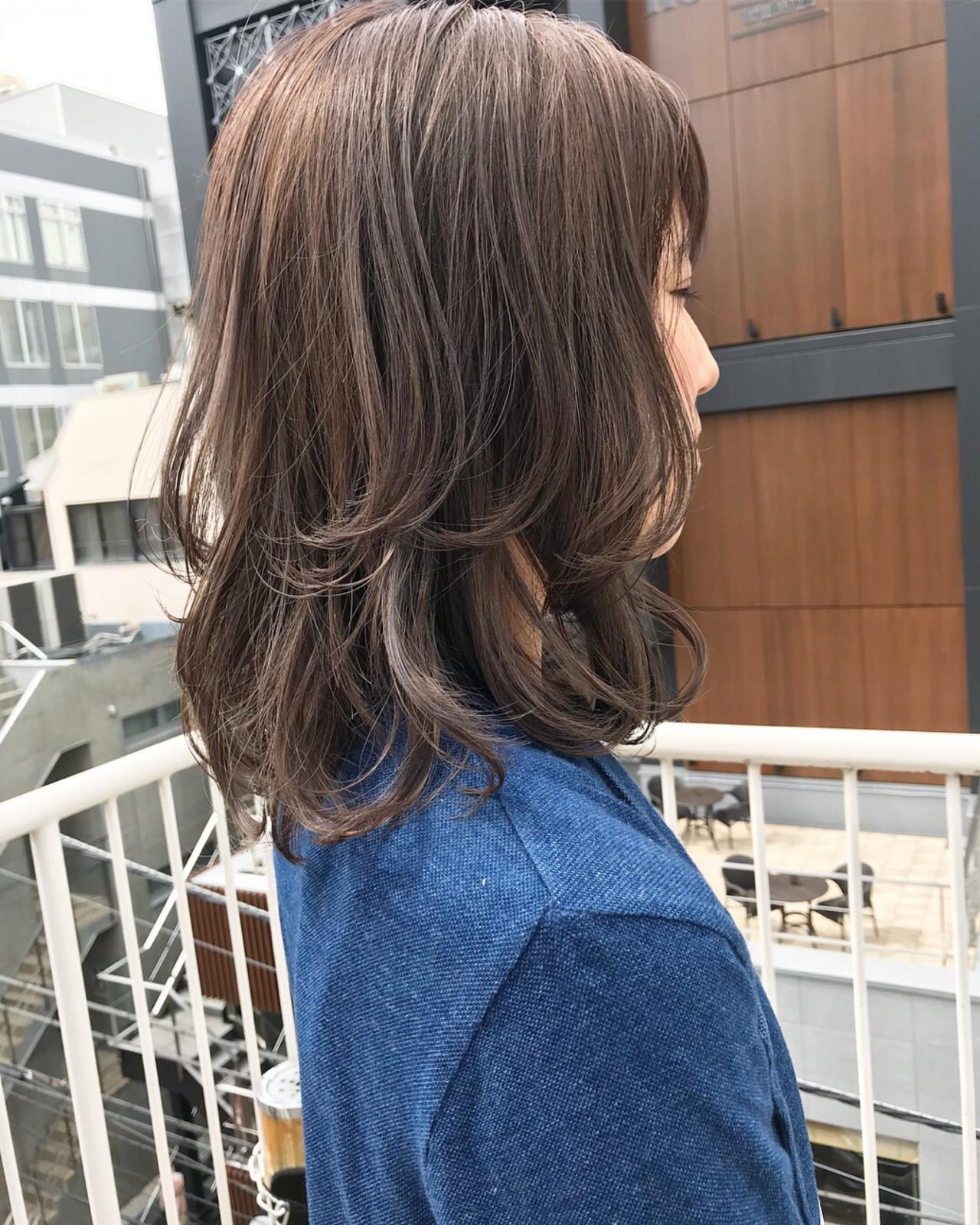 グレージュ ナチュラル ワンカール アッシュグレージュ ヘアスタイルや髪型の写真・画像