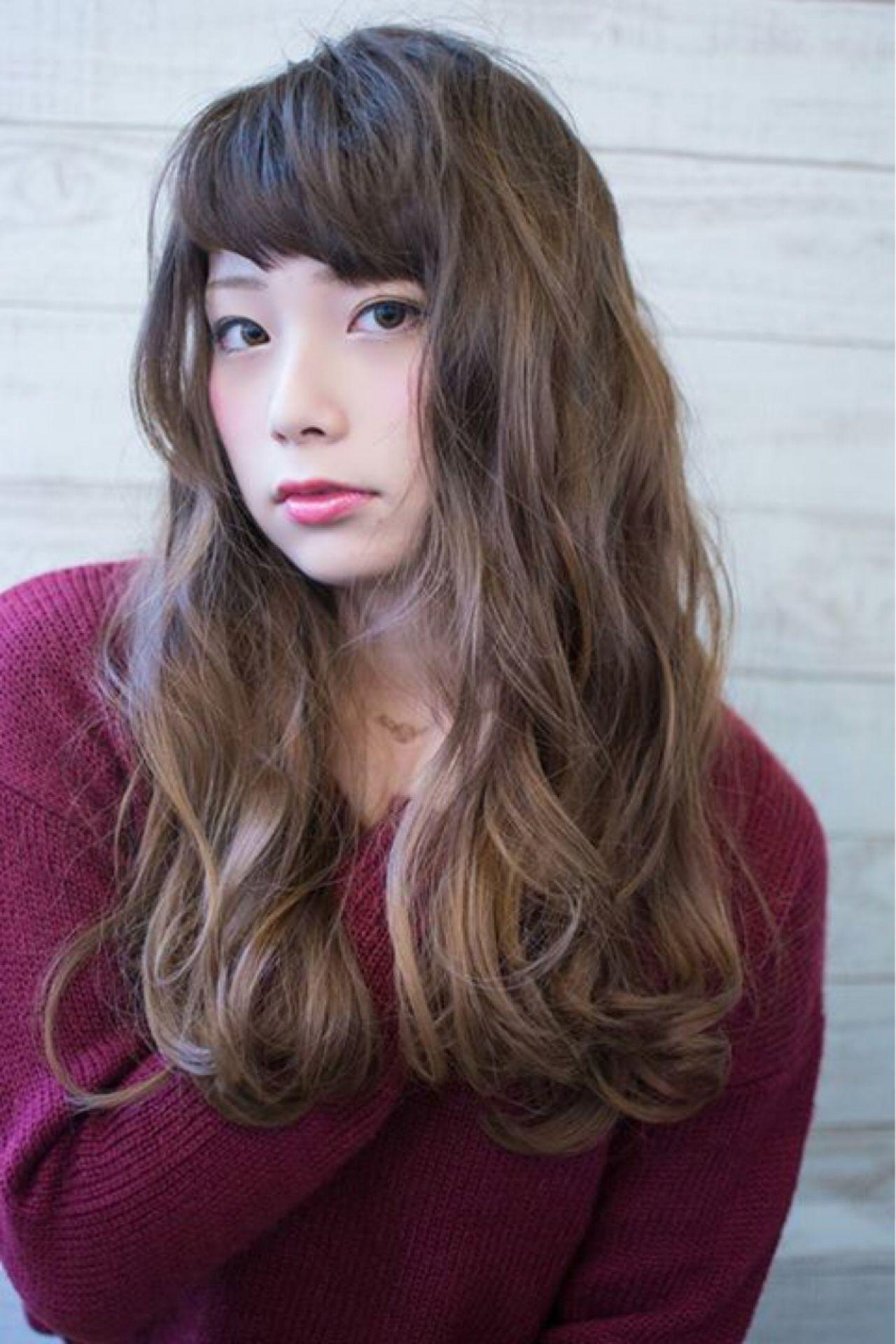 かっこいい ナチュラル フェミニン セミロング ヘアスタイルや髪型の写真・画像