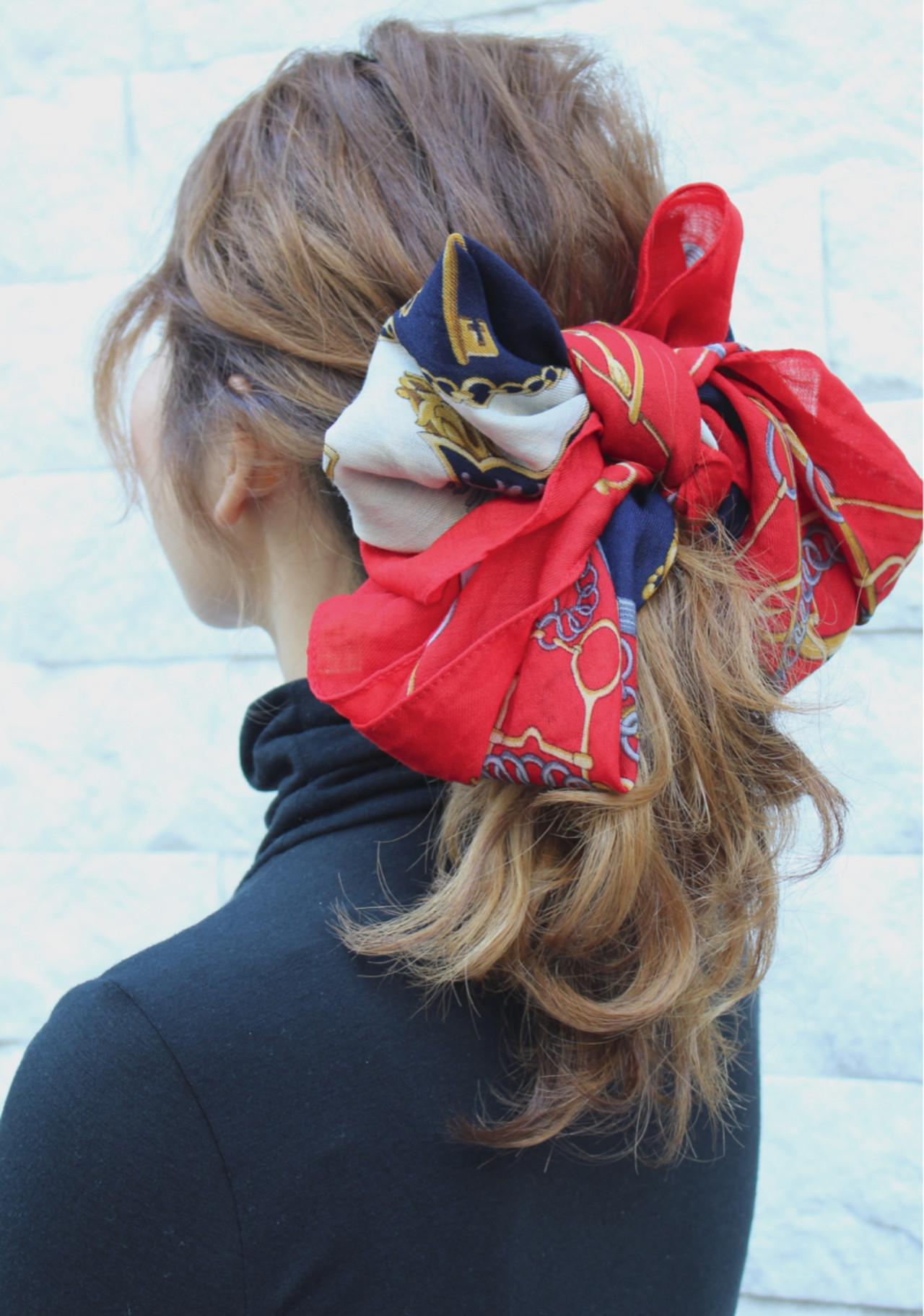 簡単ヘアアレンジ セミロング 大人女子 ヘアアレンジ ヘアスタイルや髪型の写真・画像