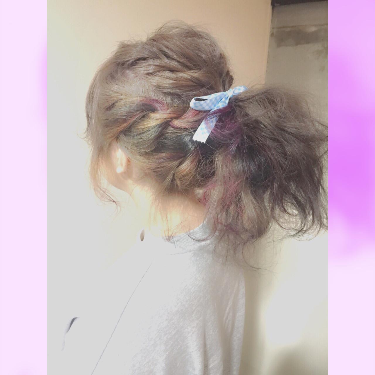 フェミニン セミロング ゆるふわ ショート ヘアスタイルや髪型の写真・画像