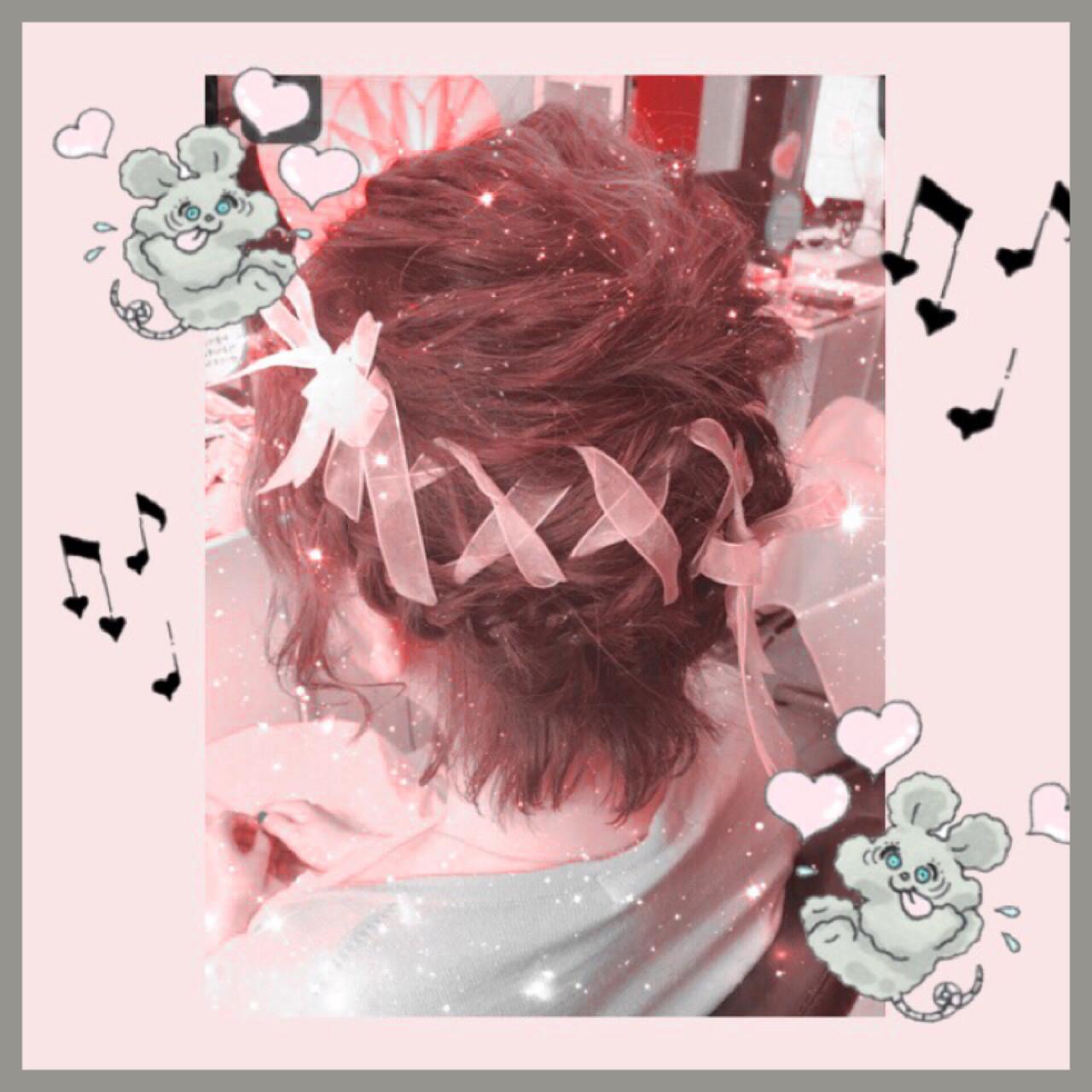 ヘアアレンジ ショート 編み込み フェミニン ヘアスタイルや髪型の写真・画像