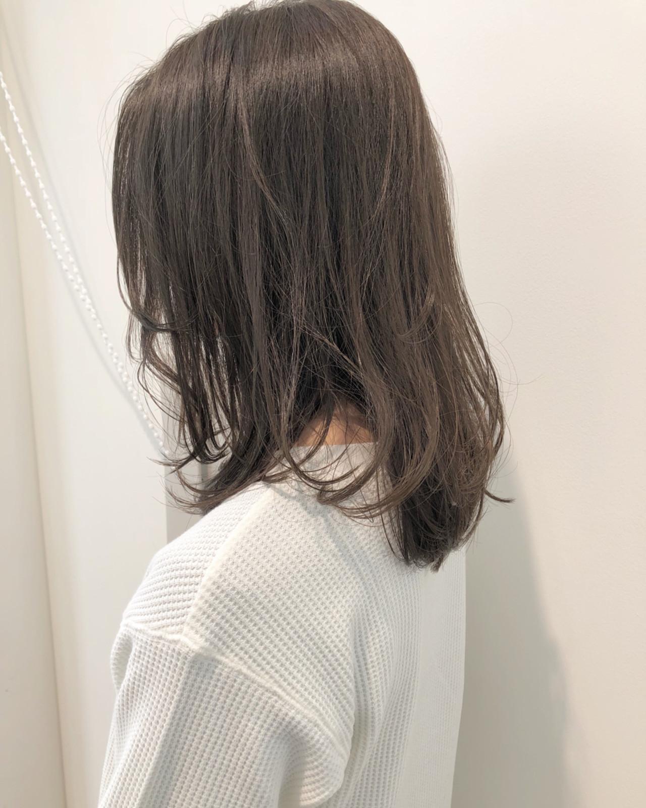 モテ髪 ロブ 愛され ナチュラル ヘアスタイルや髪型の写真・画像