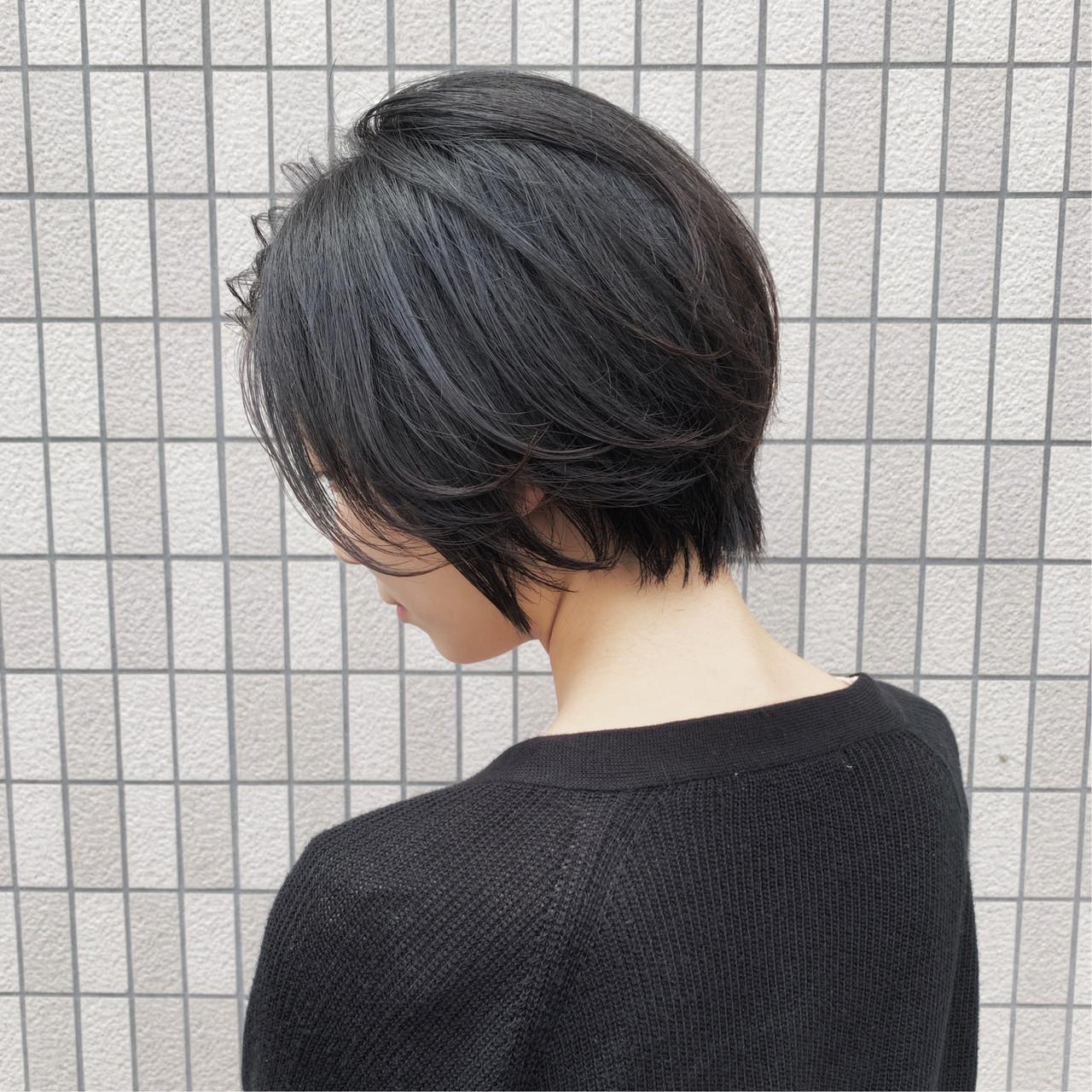 ふんわりショート  ショート ハンサムショート ヘアスタイルや髪型の写真・画像