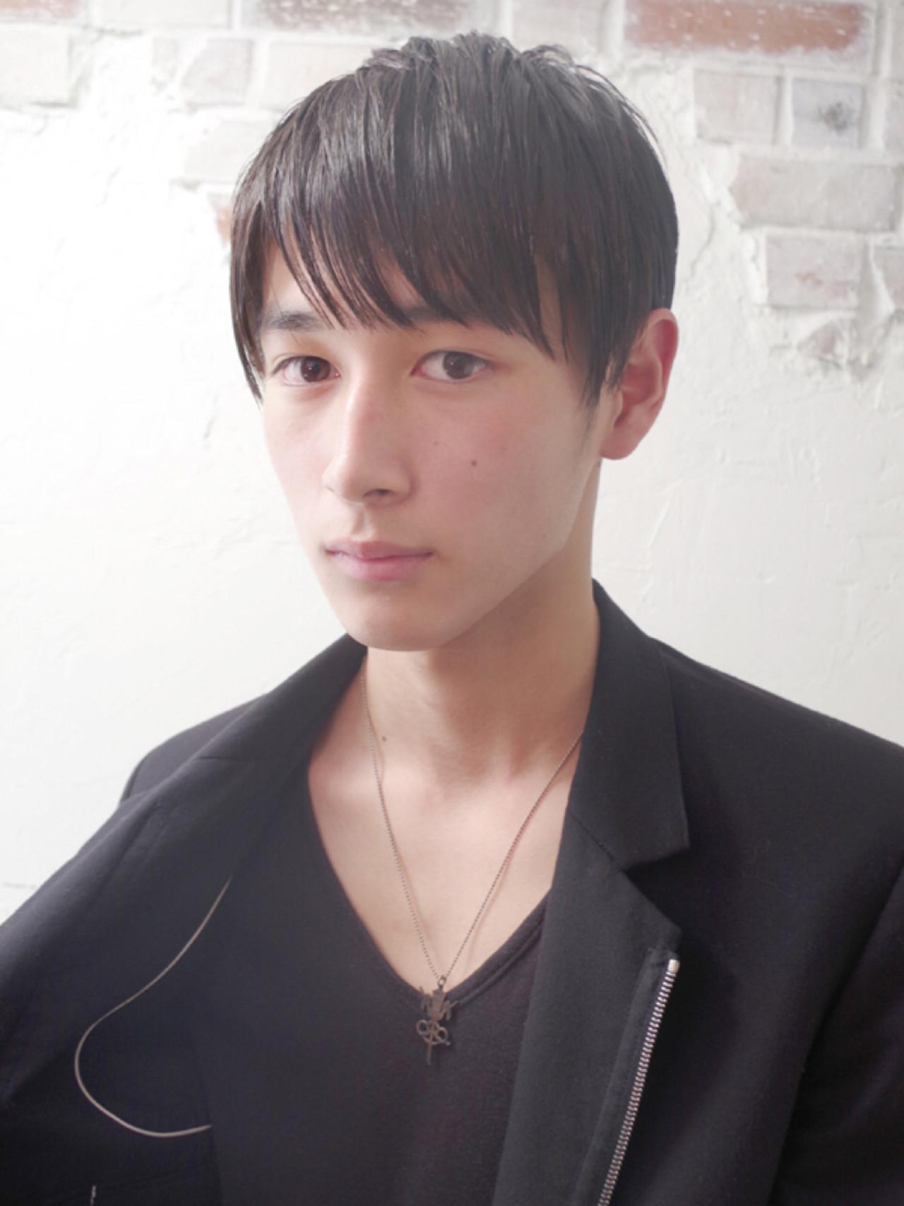 ショート 黒髪 モード ボーイッシュ ヘアスタイルや髪型の写真・画像