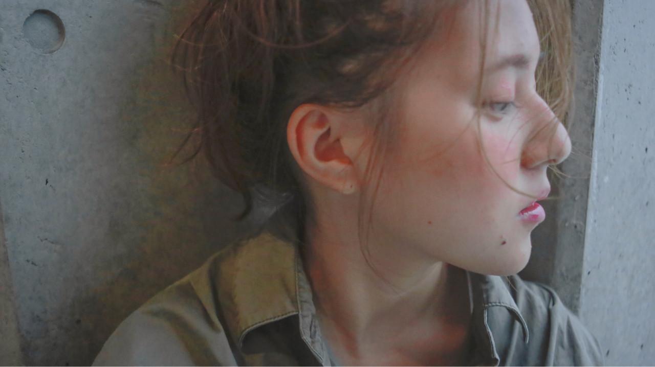 ナチュラル ヘアアレンジ ロング ショート ヘアスタイルや髪型の写真・画像