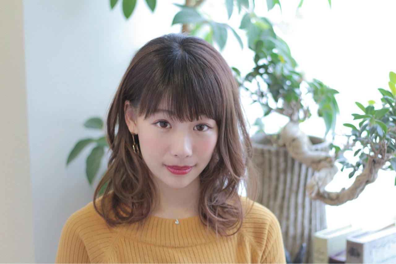 大人かわいい ミディアム かわいい ゆるふわ ヘアスタイルや髪型の写真・画像   堀内 千恵子 / S-style トータルビューティーサロン