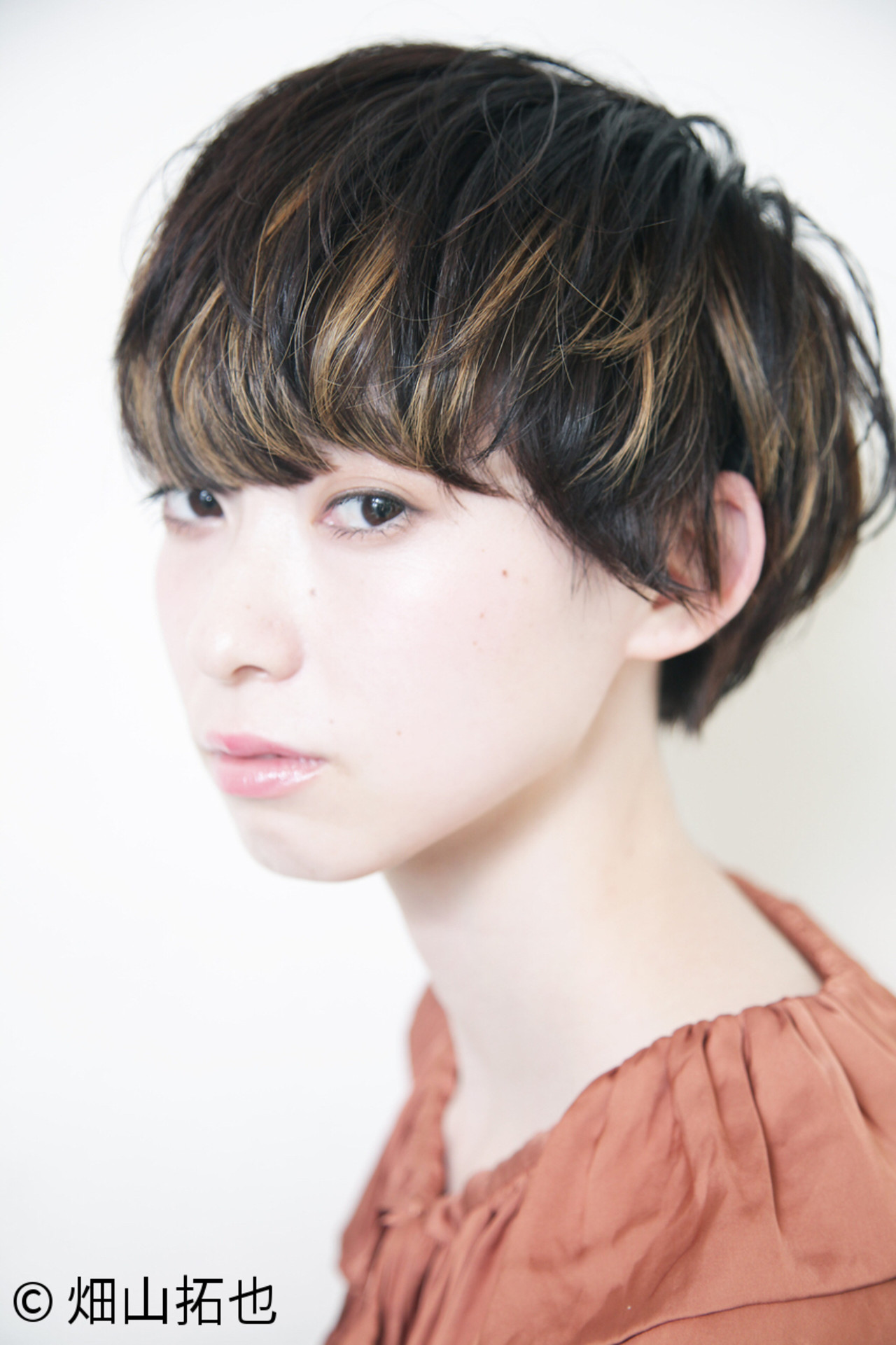 モード ナチュラル ショート マッシュ ヘアスタイルや髪型の写真・画像 | 畑山拓也 / Baco.