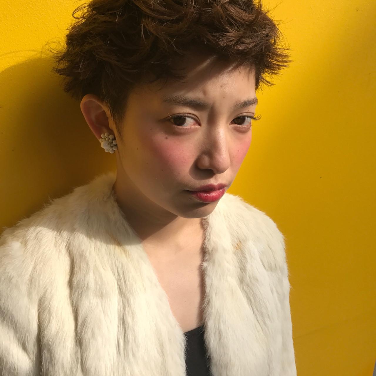 モード ショート パーマ 坊主 ヘアスタイルや髪型の写真・画像 | 小西敬二郎 / Heartim
