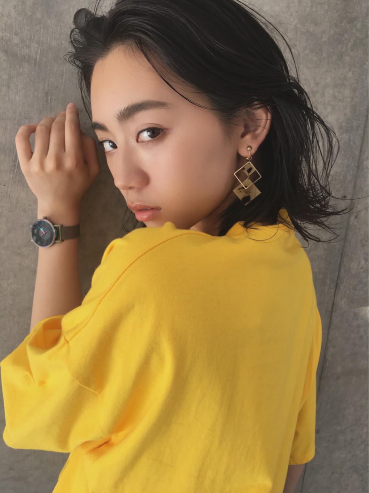 ヘアアレンジ 涼しげ デート 大人かわいい ヘアスタイルや髪型の写真・画像 | imai yutaro / Aj