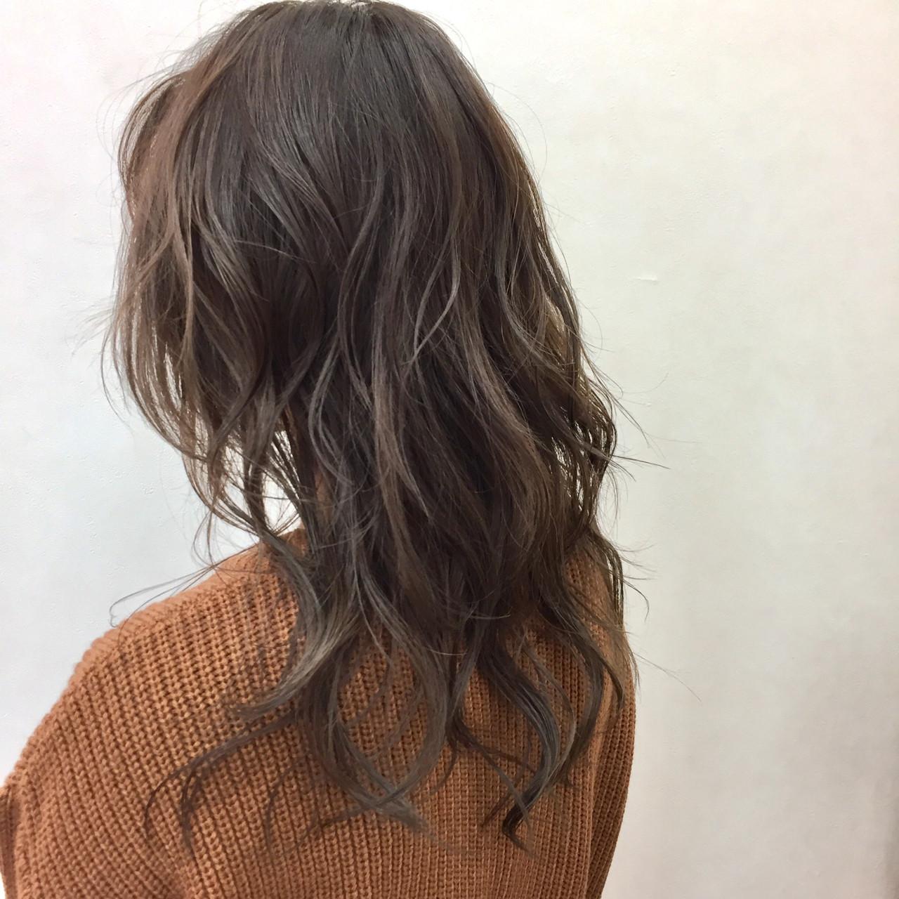 ナチュラル ミルクティーベージュ ミルクティー セミロング ヘアスタイルや髪型の写真・画像 | 後藤菜々 / 電髪倶楽部street