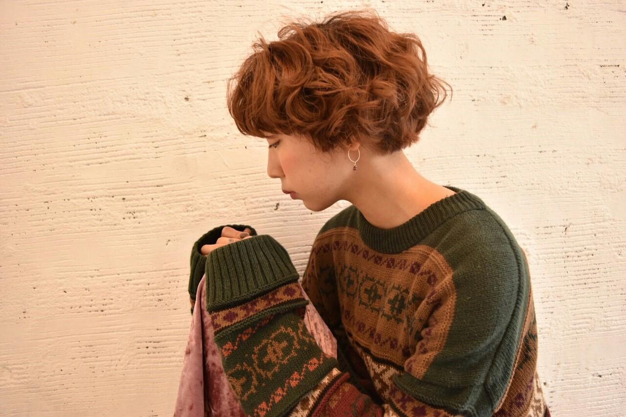 ボブ 秋 外国人風 ガーリー ヘアスタイルや髪型の写真・画像   菊地 浩太 / Cloe 中野