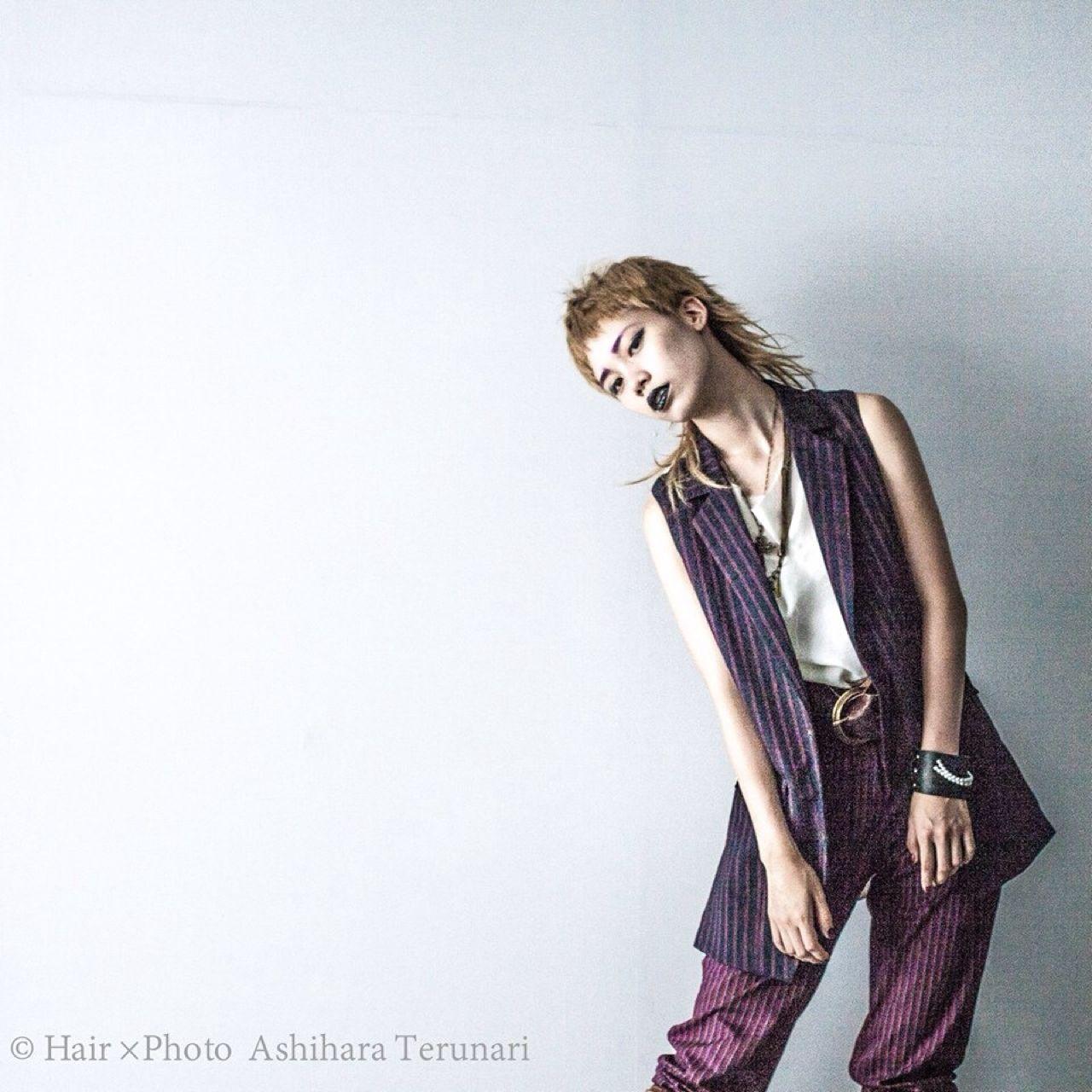 ショート モード 外国人風 ウルフカット ヘアスタイルや髪型の写真・画像