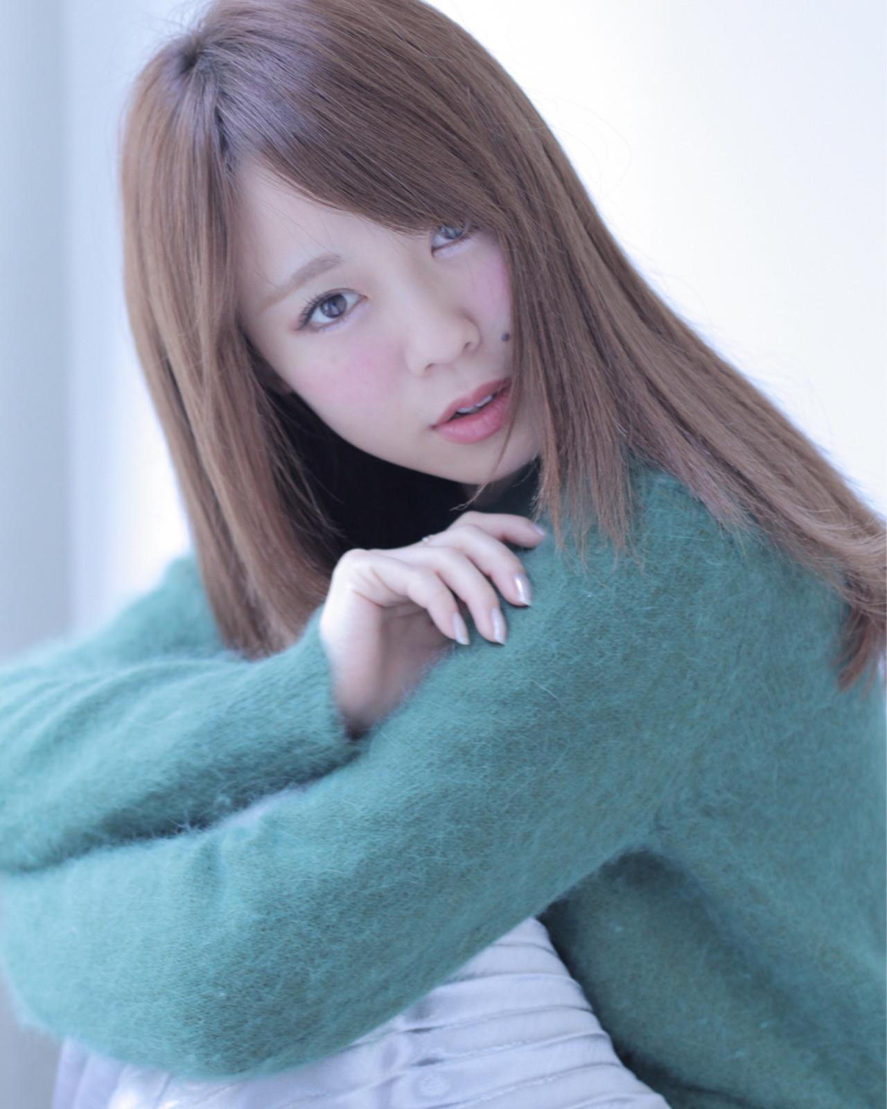 外国人風 大人かわいい ナチュラル アッシュ ヘアスタイルや髪型の写真・画像 | 石田 学史 / DISHEL