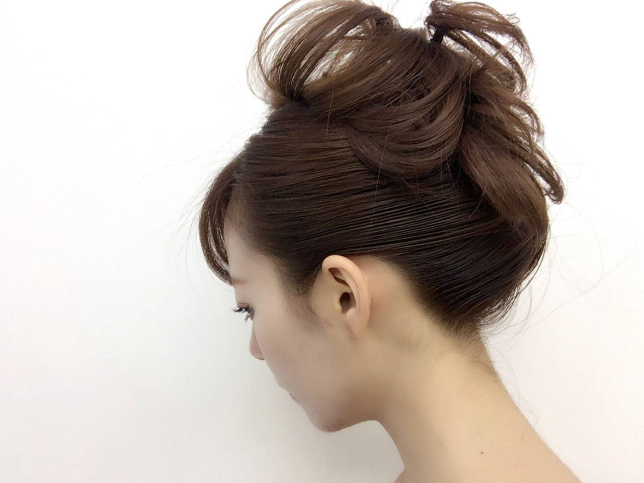 ヘアアレンジ モード 夜会巻 大人女子 ヘアスタイルや髪型の写真・画像