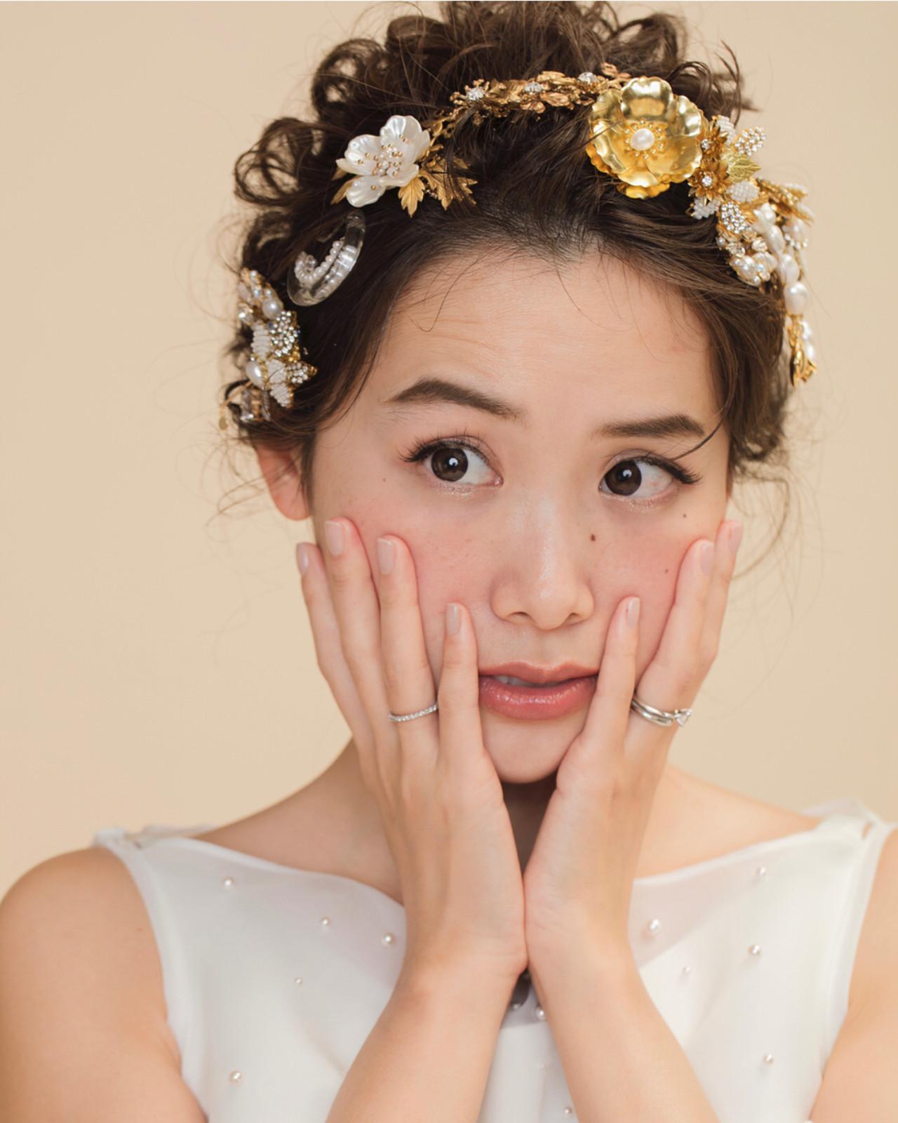 おしゃれさんと繋がりたい セミロング 大人かわいい 結婚式ヘアアレンジ ヘアスタイルや髪型の写真・画像 | tomoya tamada / Bridal hairmake