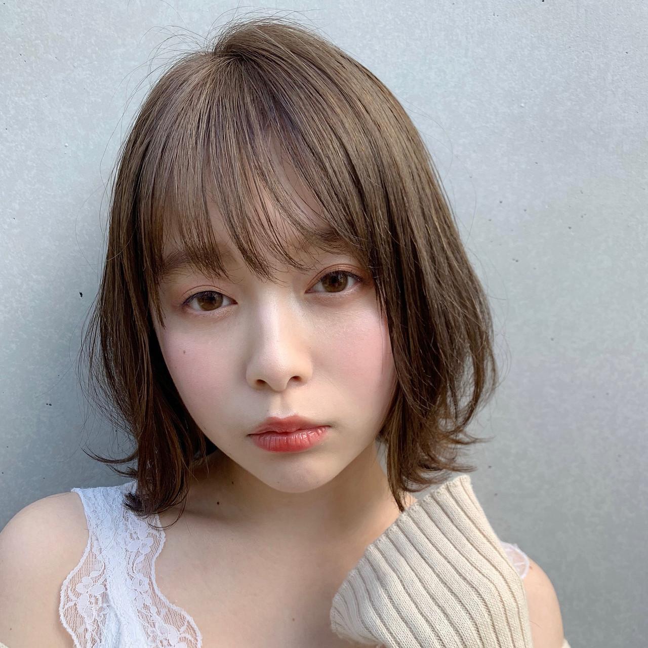 ナチュラル アンニュイほつれヘア ボブ 大人かわいい ヘアスタイルや髪型の写真・画像 | Natsuko Kodama 児玉奈都子 / dydi