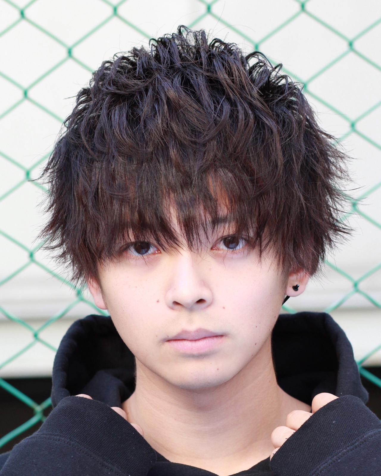 坊主 ボーイッシュ パーマ ショート ヘアスタイルや髪型の写真・画像 | takuya.h / vlam