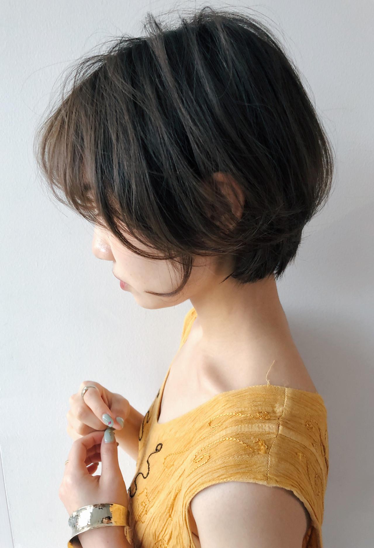 マッシュショート ハンサムショート ショート ショートボブ ヘアスタイルや髪型の写真・画像