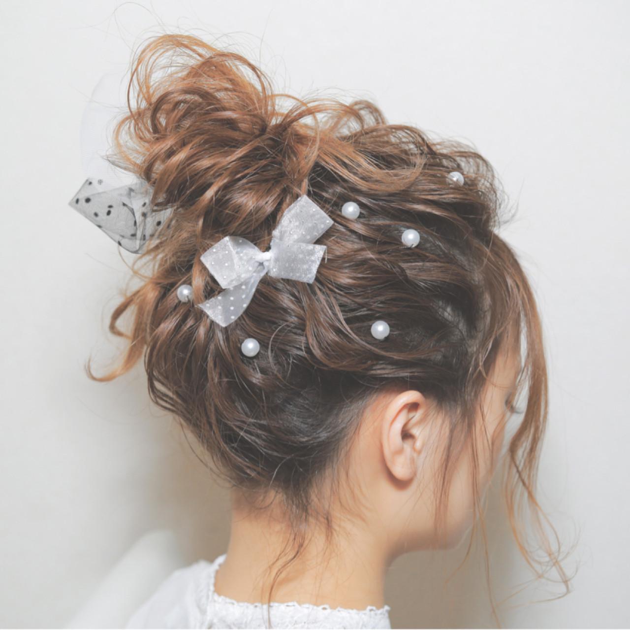 愛され セミロング フェミニン ストリート ヘアスタイルや髪型の写真・画像