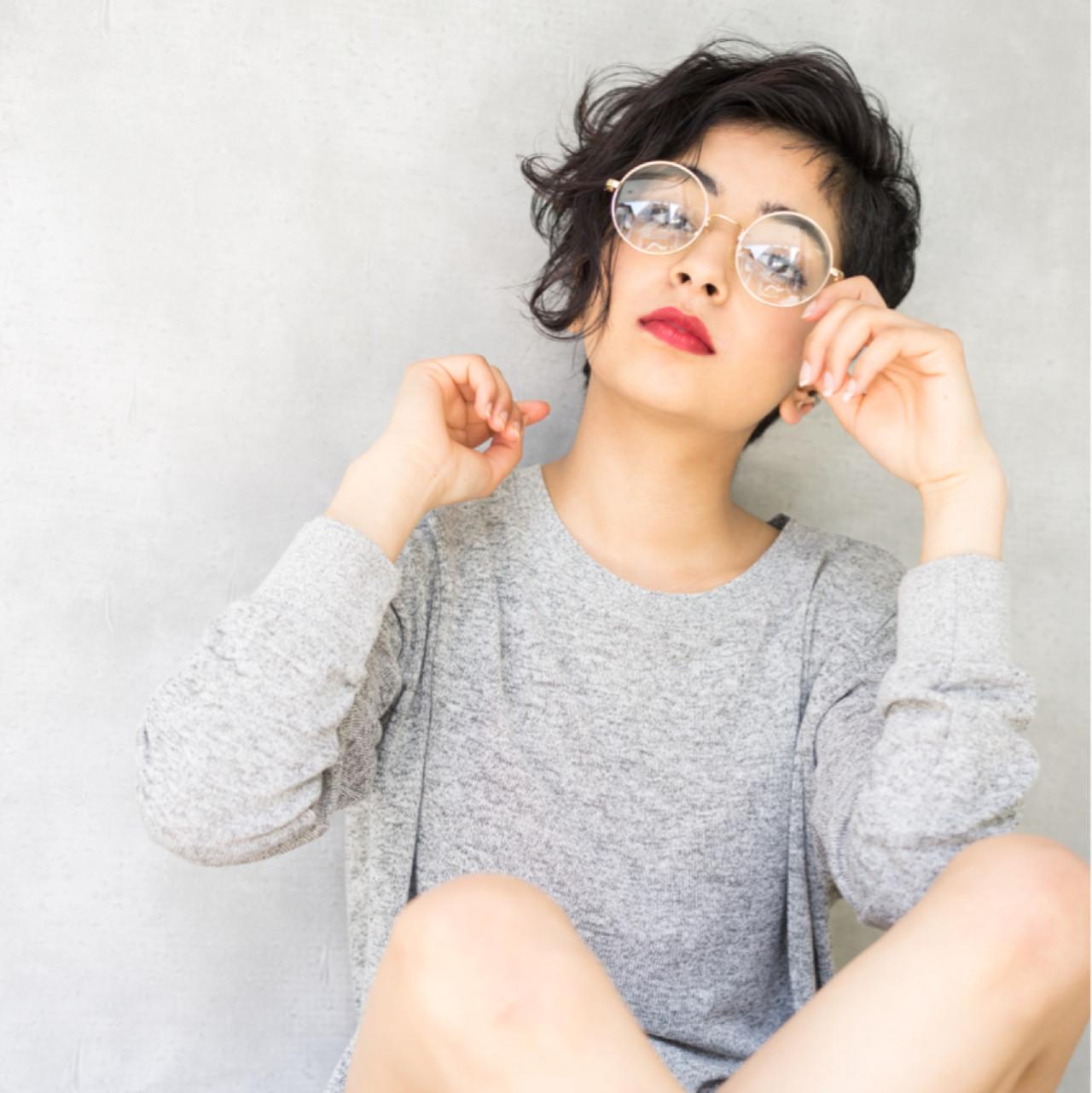 ショート ウェーブ 外国人風 アンニュイ ヘアスタイルや髪型の写真・画像 | 山田涼一 / HAIR MAKE Ash 祐天寺