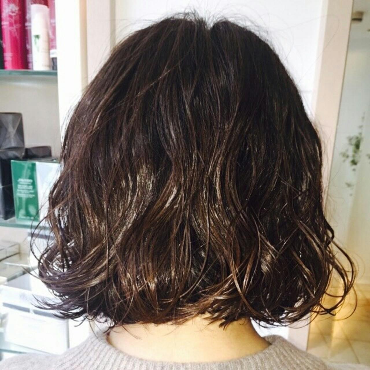 グラデーションカラー ストレート モテ髪 ボブ ヘアスタイルや髪型の写真・画像
