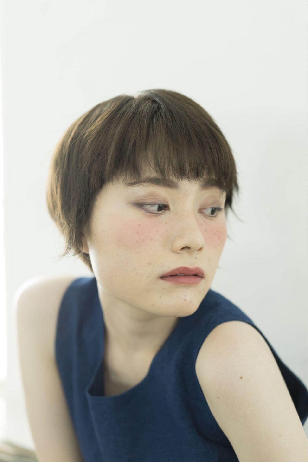 黒髪 ショート ストリート オン眉 ヘアスタイルや髪型の写真・画像 | 岩井祐美子 ALICE / Alice