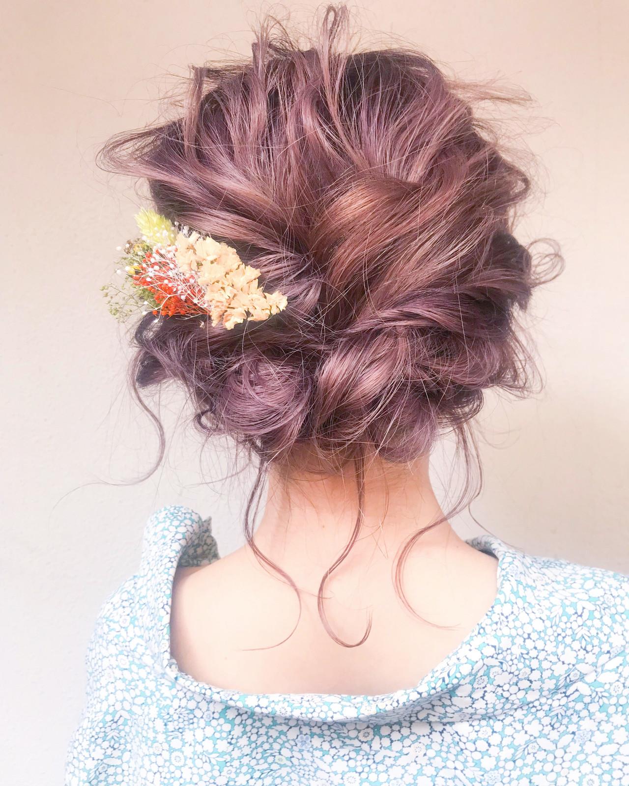 ヘアアレンジ フェミニン アンニュイほつれヘア 結婚式 ヘアスタイルや髪型の写真・画像   とも / sourire  今泉店