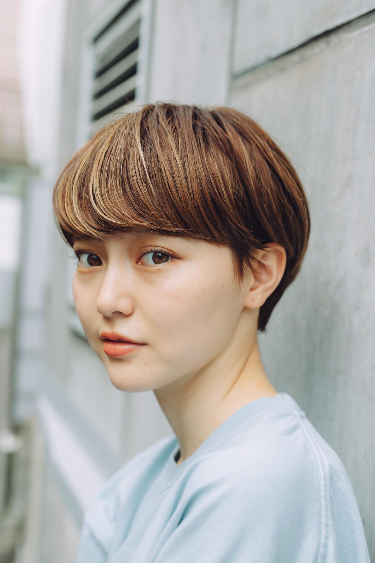 大人ショート ショートボブ ハンサムショート 小顔ショート ヘアスタイルや髪型の写真・画像   児玉善央 / GARDEN harajuku