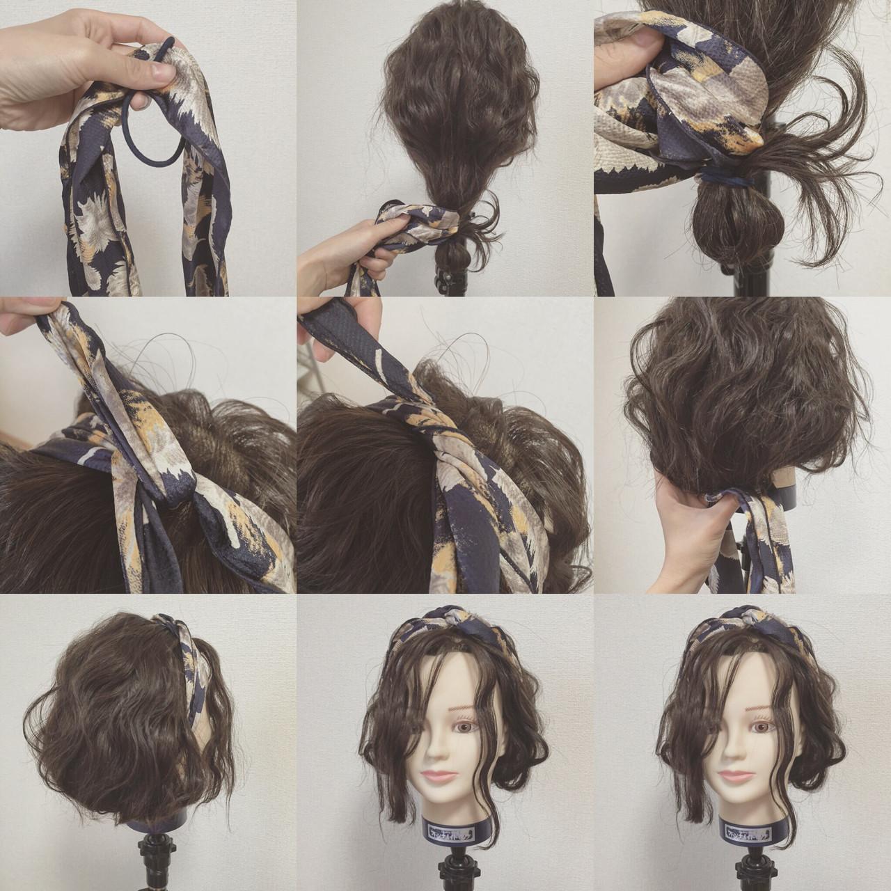 ヘアアクセ 波ウェーブ ショート ヘアアレンジ ヘアスタイルや髪型の写真・画像