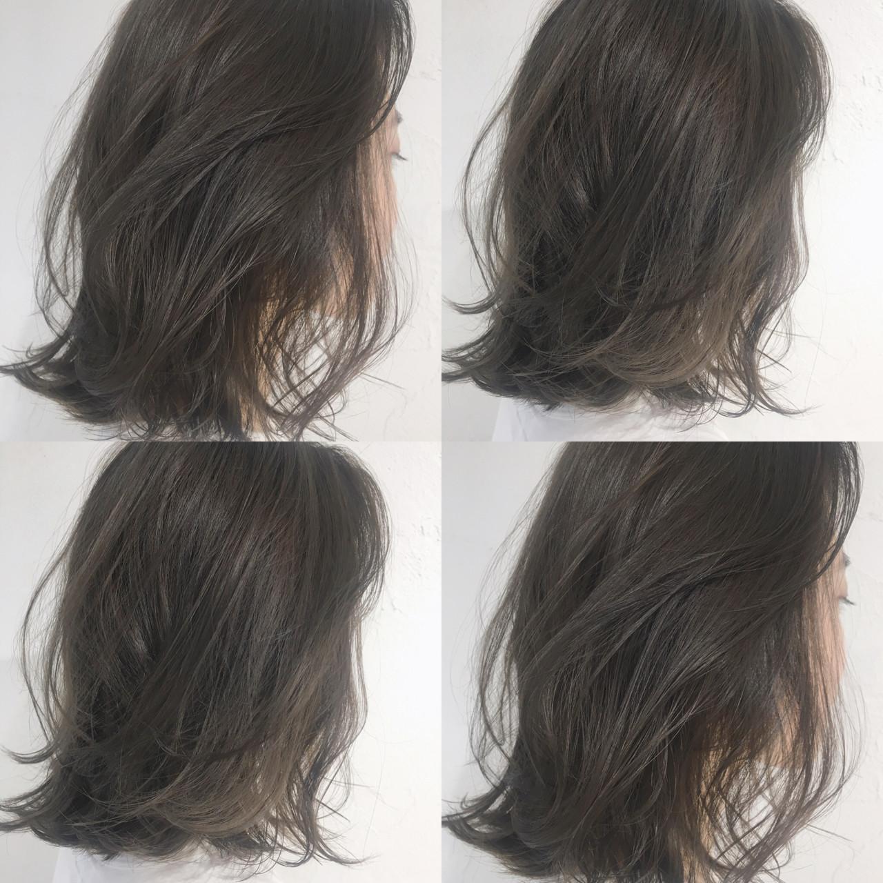 アンニュイ グレージュ ブリーチなし ストリート ヘアスタイルや髪型の写真・画像 | 中島 潮里 / whyte / whyte