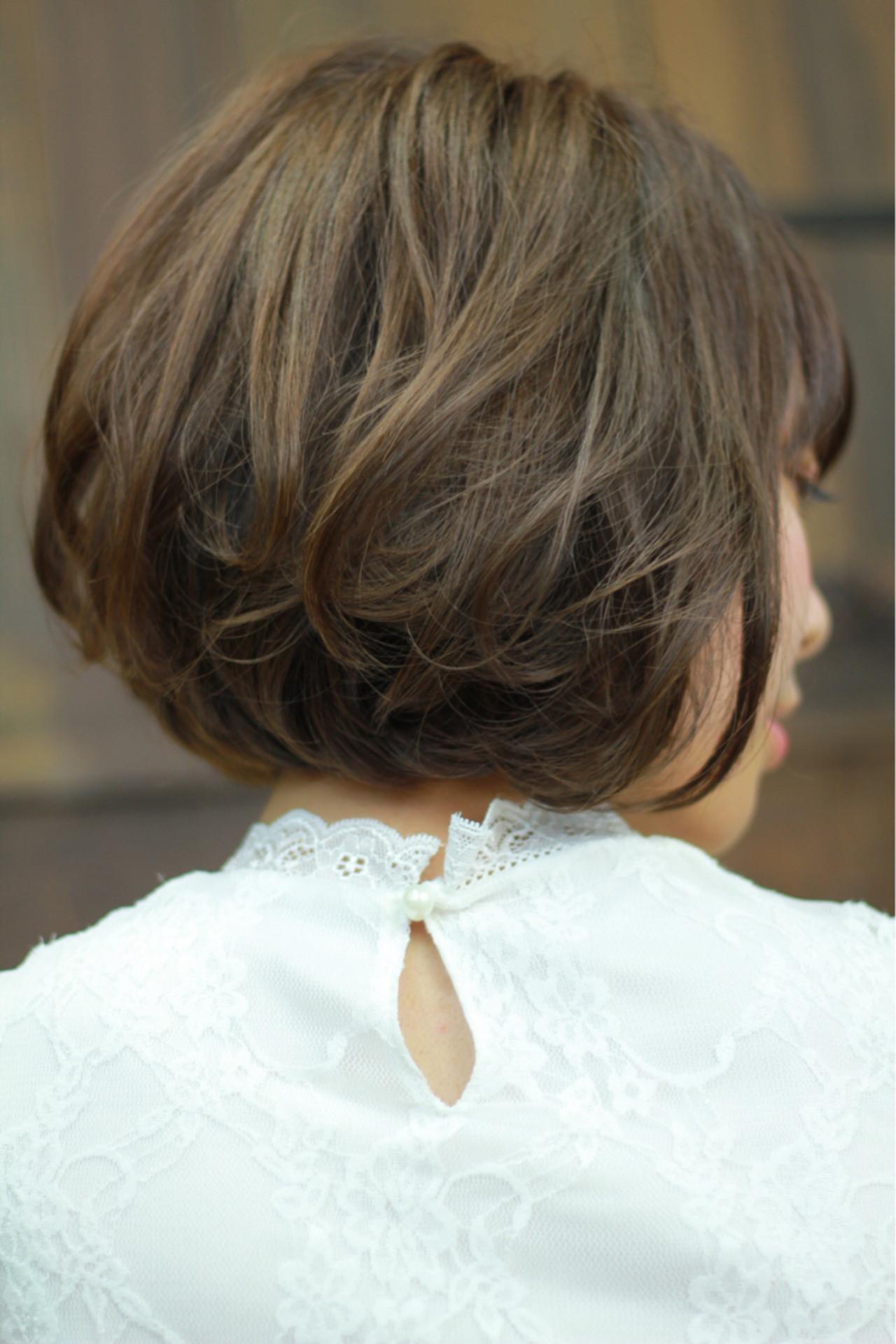 大人かわいい ナチュラル ボブ 大人女子 ヘアスタイルや髪型の写真・画像