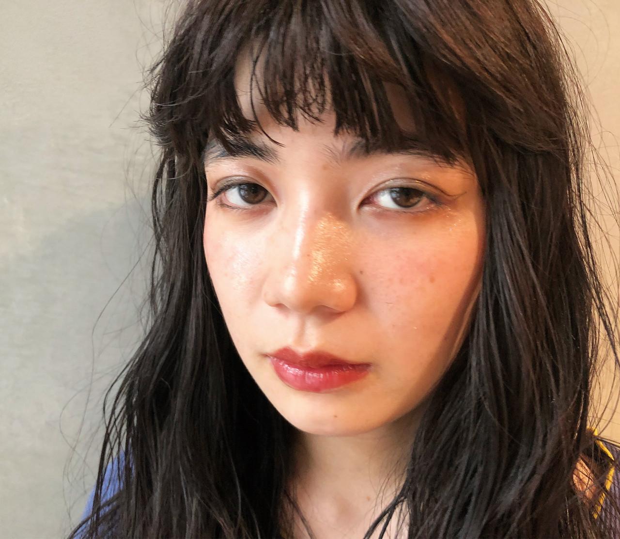 ショート セミロング 黒髪 ロング ヘアスタイルや髪型の写真・画像 | eri / kikkake@depth
