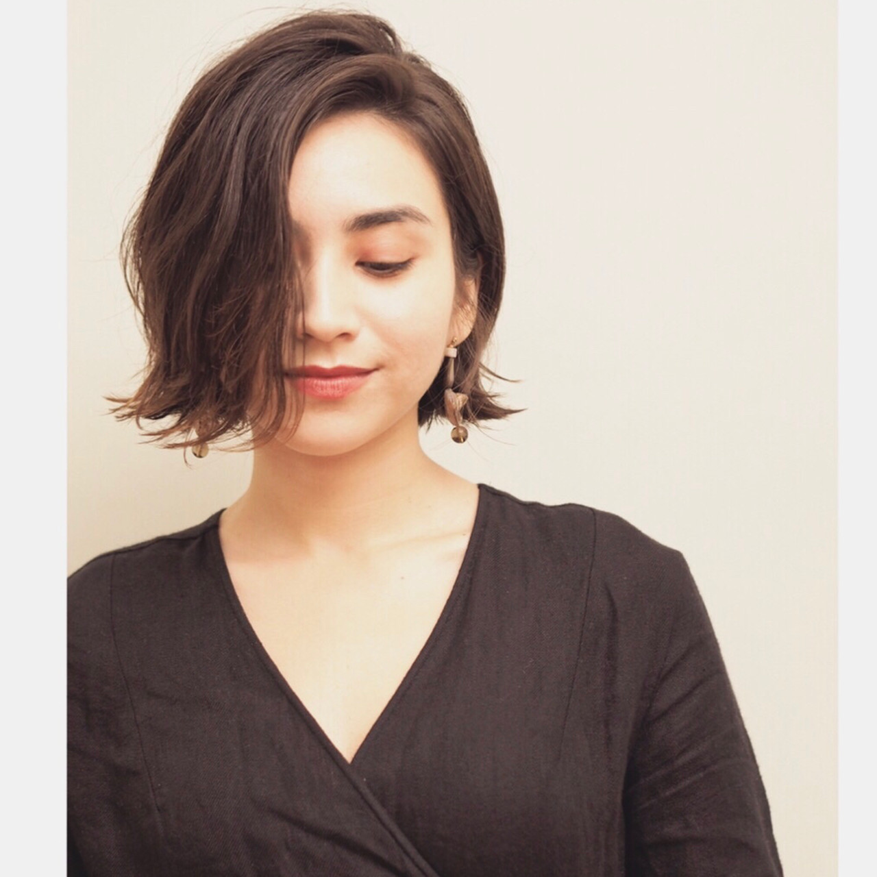 簡単スタイリング ボブ ナチュラル パーマ ヘアスタイルや髪型の写真・画像