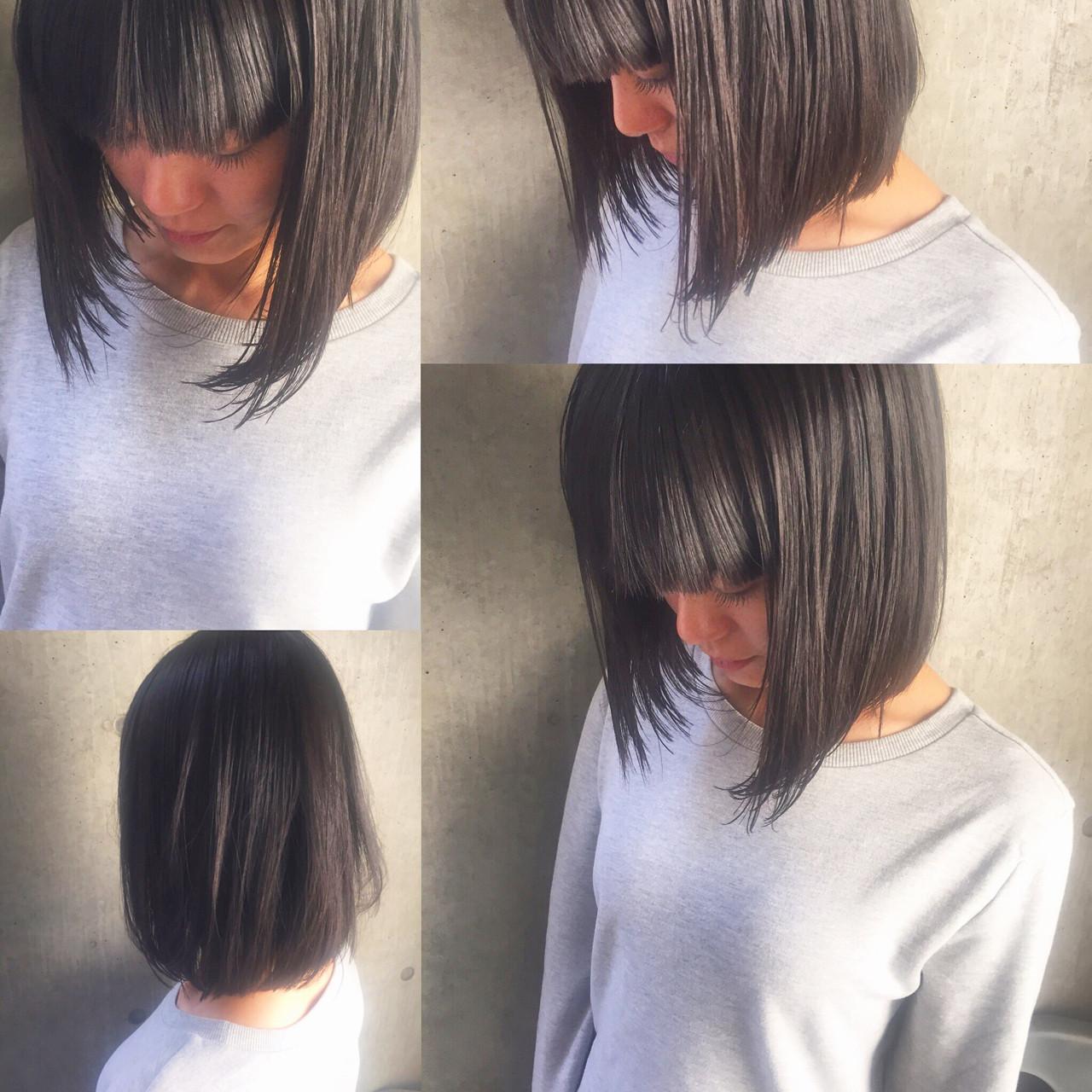 暗髪 外国人風 大人かわいい ナチュラル ヘアスタイルや髪型の写真・画像