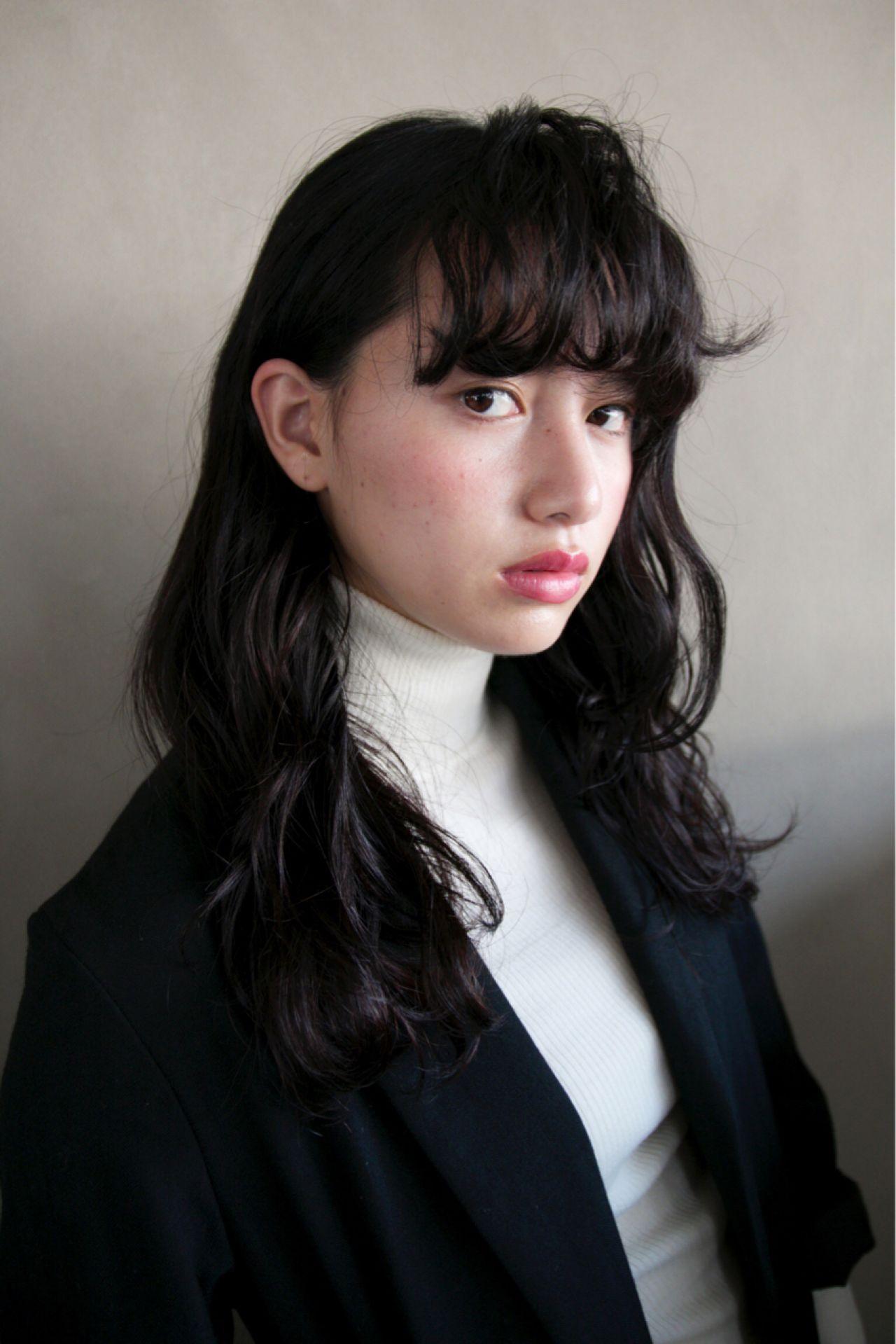 ウェーブ ストリート ロング モード ヘアスタイルや髪型の写真・画像 | 津崎 伸二 / nanuk / nanuk渋谷店(ナヌーク)