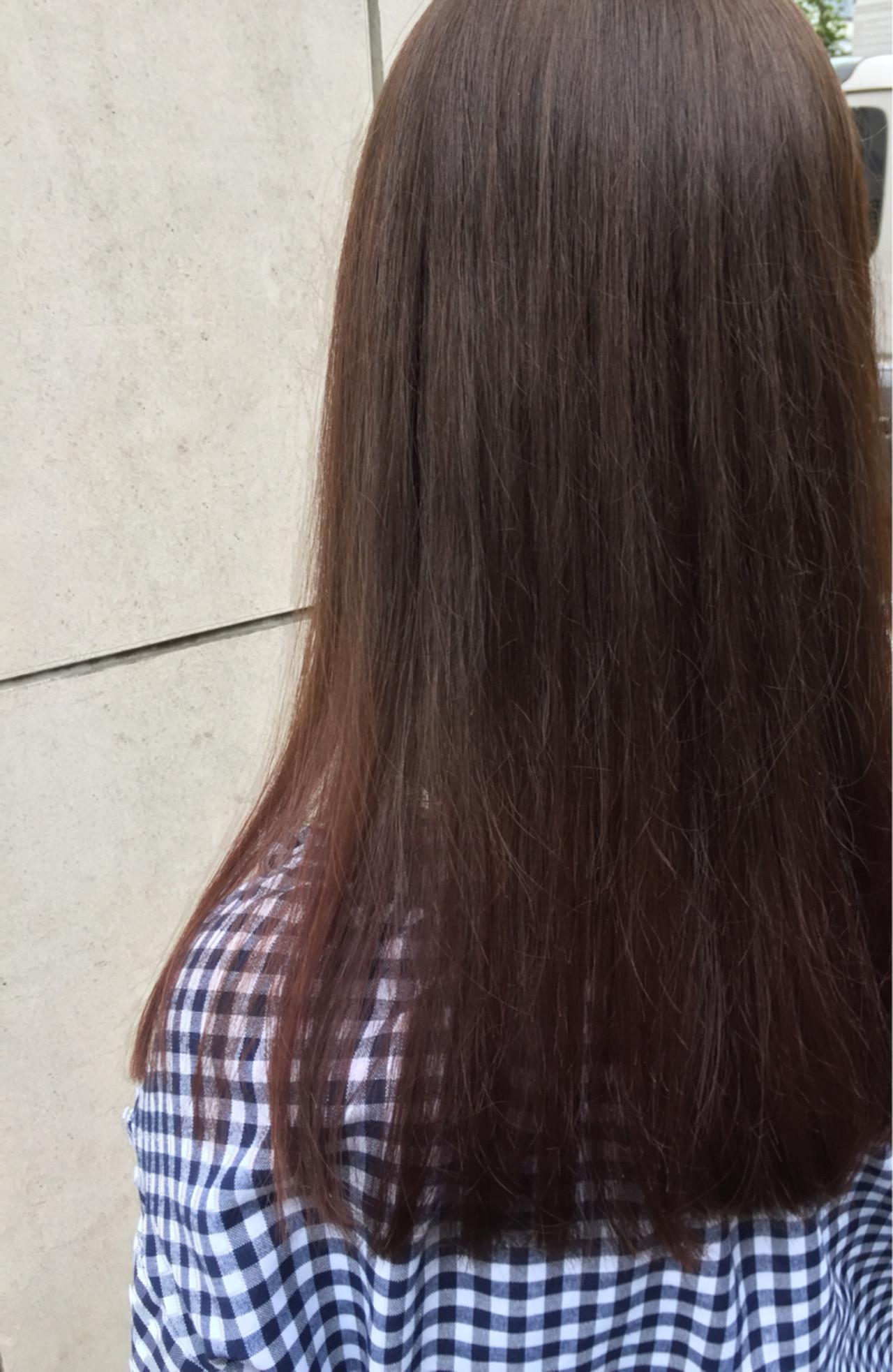 パープル バイオレットアッシュ グレー ロング ヘアスタイルや髪型の写真・画像