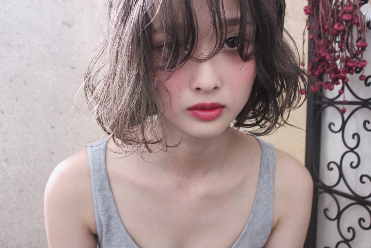外国人風 ウェーブ ボブ 秋 ヘアスタイルや髪型の写真・画像
