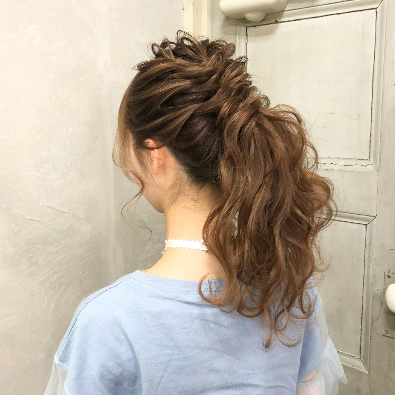 エレガント 大人かわいい ロング ポニーテール ヘアスタイルや髪型の写真・画像