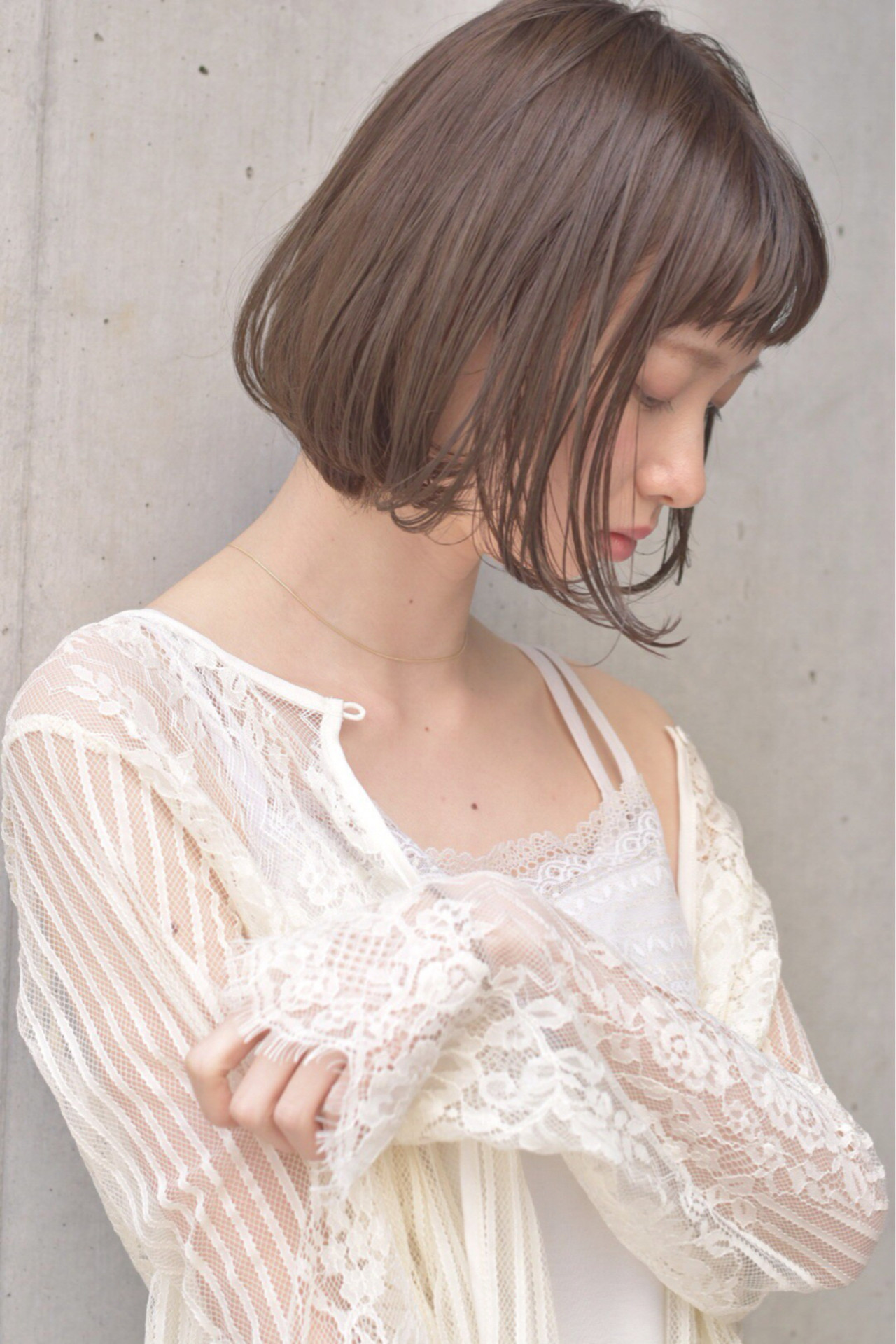愛され かわいい フェミニン ミルクティー ヘアスタイルや髪型の写真・画像