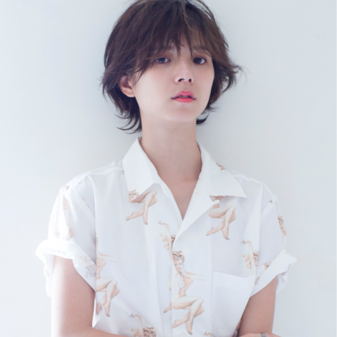 ショート 透明感 ウルフカット 秋 ヘアスタイルや髪型の写真・画像 | 竹石 大介 / air-FUKUOKA