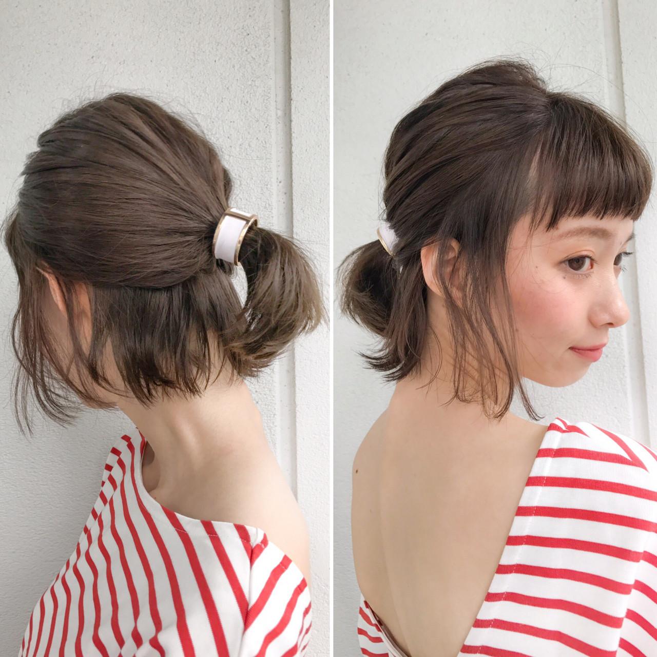ボブ&ショートボブヘアアレンジ!自分で簡単にできる髪型集♡